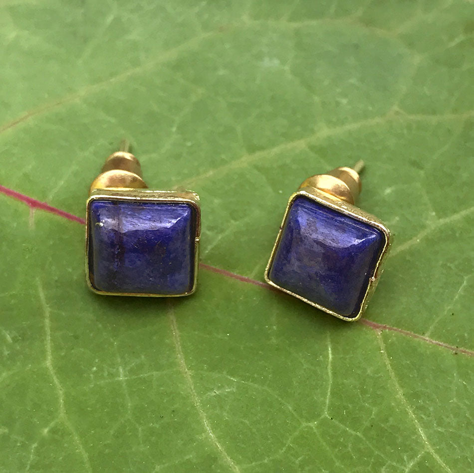 Lovely Lapis Studs, India
