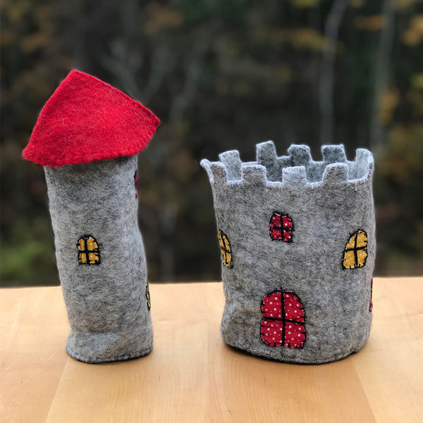 Fair trade felted castle handmade by women in Nepal.