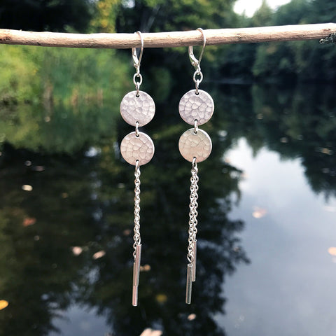 Fair trade silver earrings handmade in Guatemala.