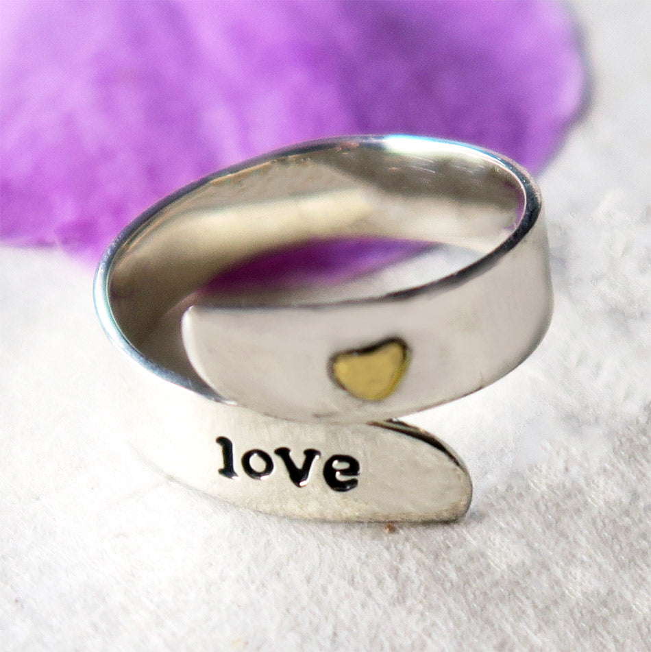 """Love"" Ring - Sterling Silver, Mexico"