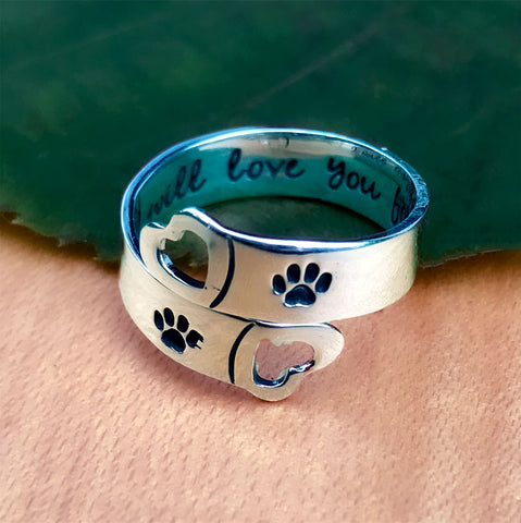 """Love You Forever"" Ring - Sterling Silver, Mexico"