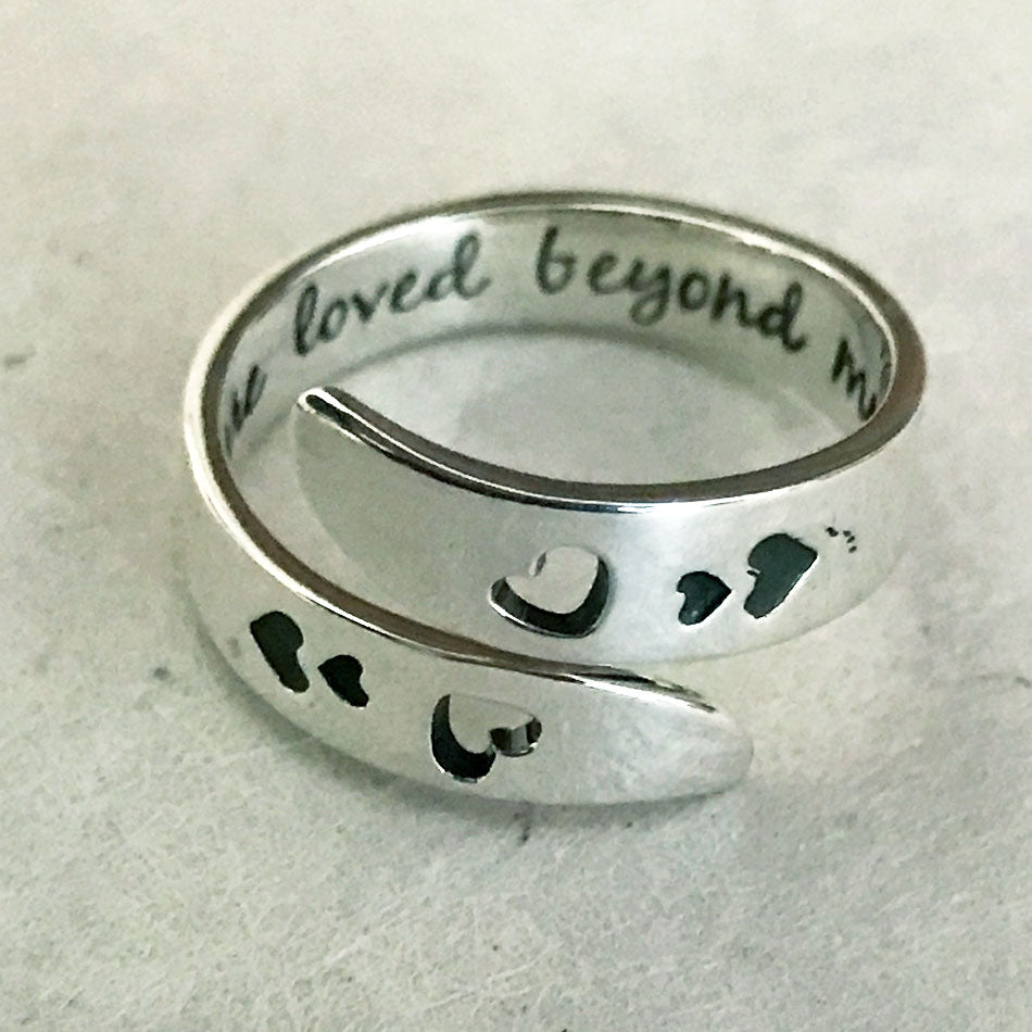 """You Are Loved Beyond Measure"" Ring - Sterling Silver, Mexico"