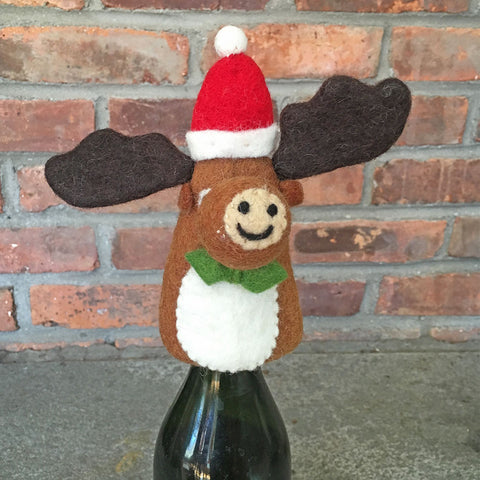 Moose Bottle Topper (finger puppet), Nepal