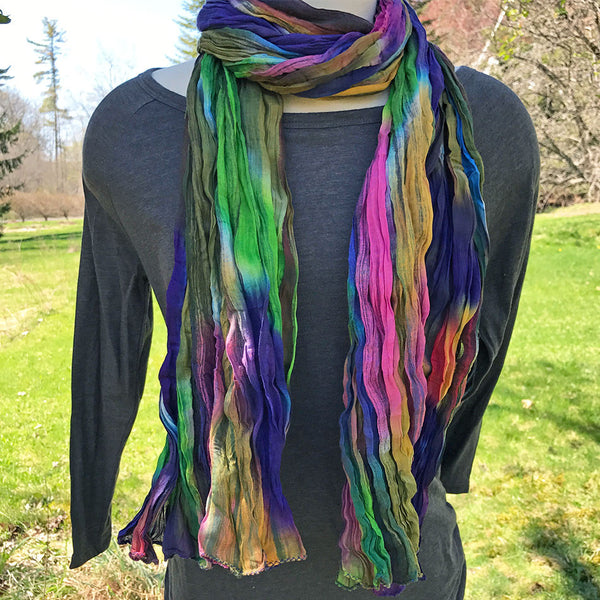 Rainbow Crinkle Scarf, India