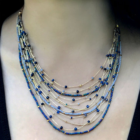 Celebration Necklace - Blue, Thailand