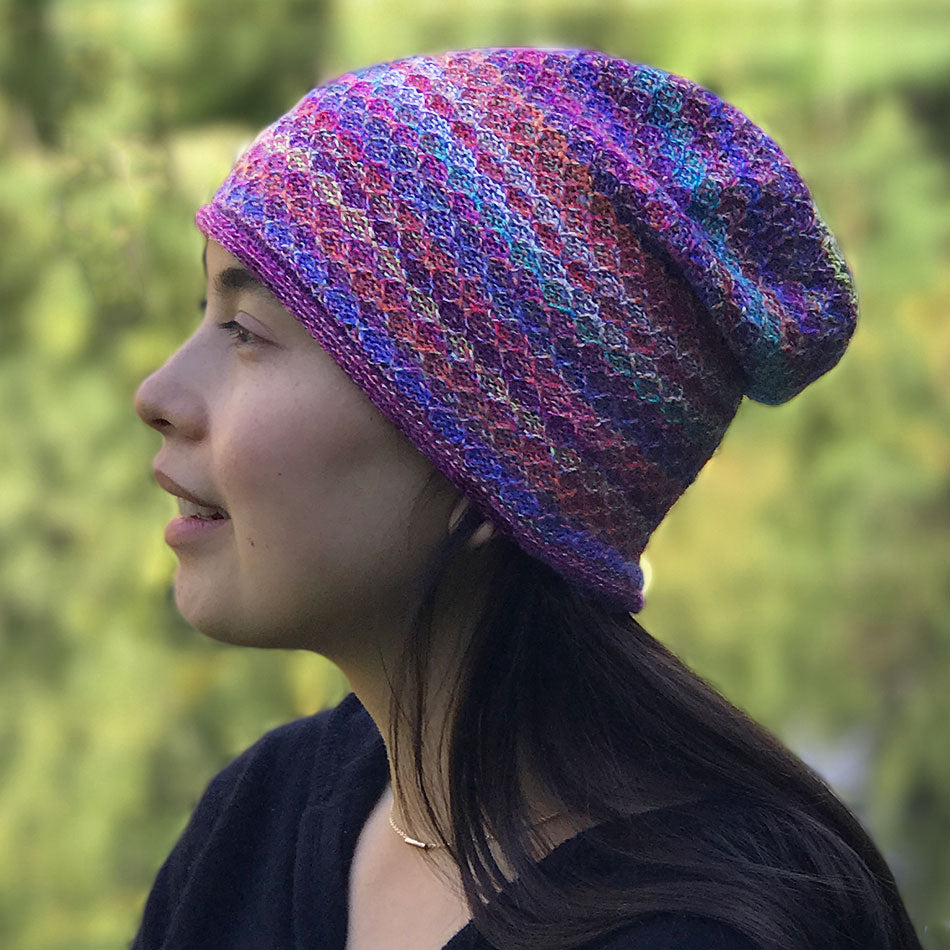 Fair trade alpaca hat handmade in Peru