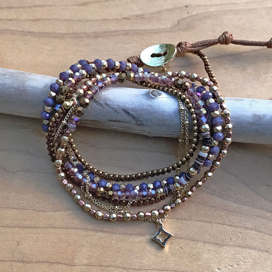 Fair trade bracelet handmade by women in Thailand