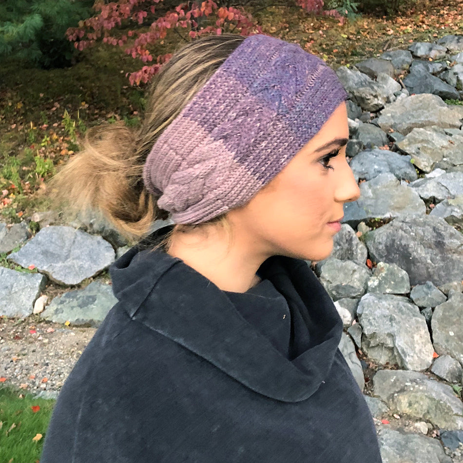 Luxurious Alpaca Headband - Berry Cable, Peru
