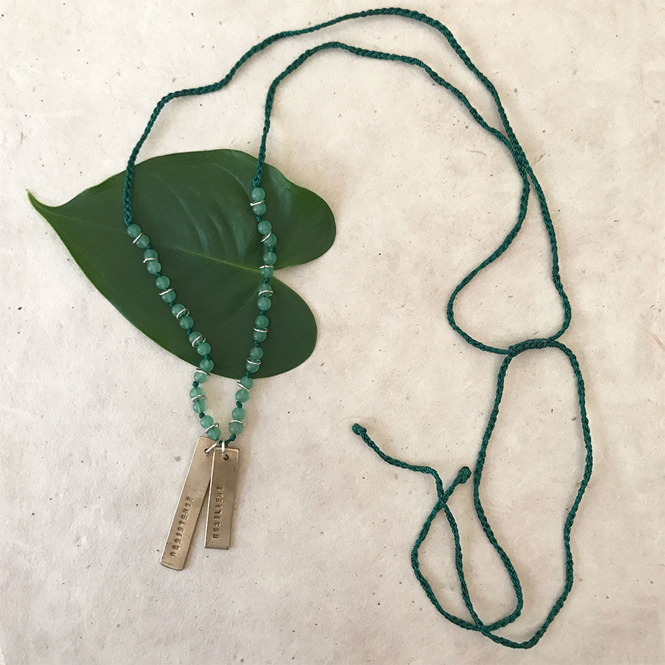 Fair trade resilient necklace handmade in Peru