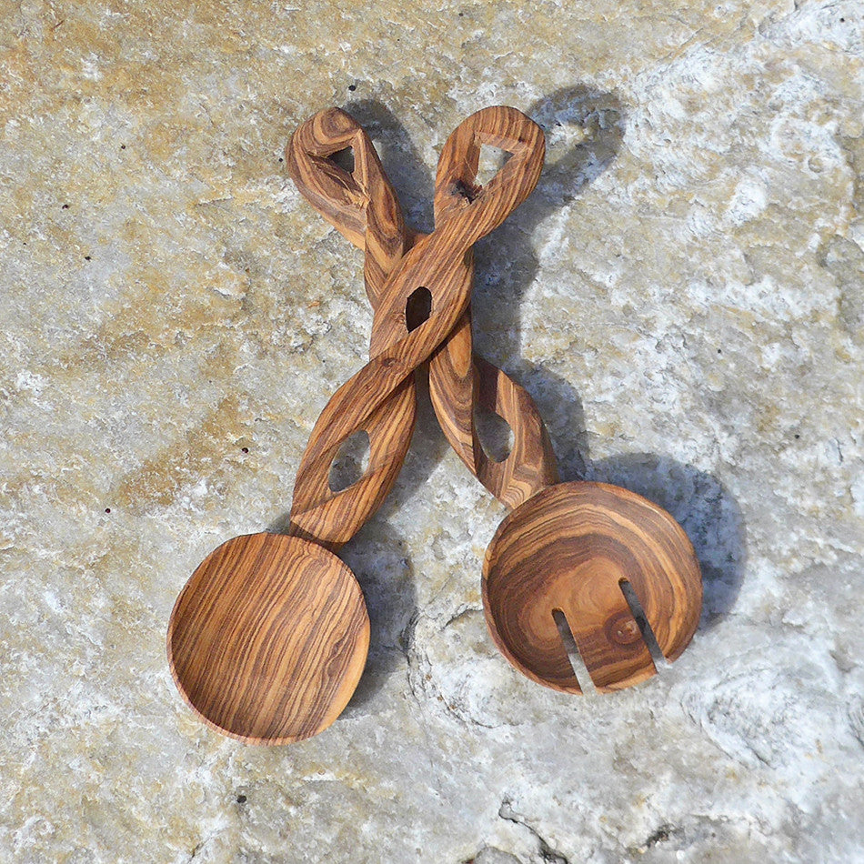 Twisted Salad Servers - Small, Kenya