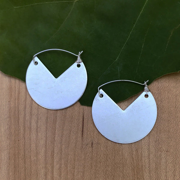 Fair trade silver plated earrings handmade by women in Guatemala