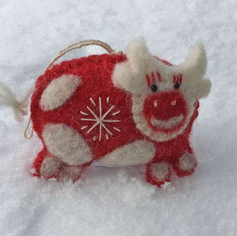 Snowflake Cow Ornament, Nepal