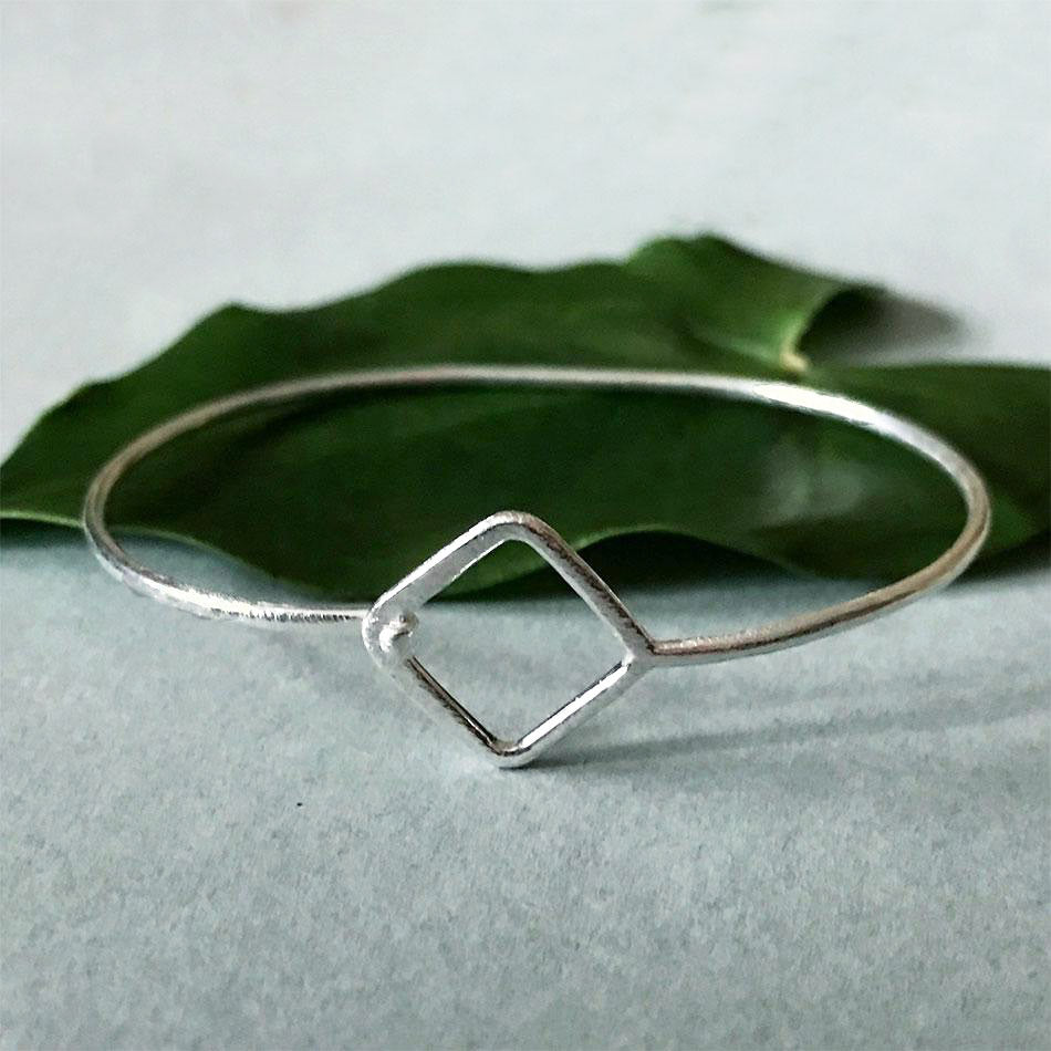 Touch of Elegance Triangle Bracelet -Sterling Silver, India