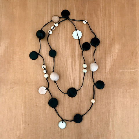 Fair trade tagua nut necklace handmade in Colombia