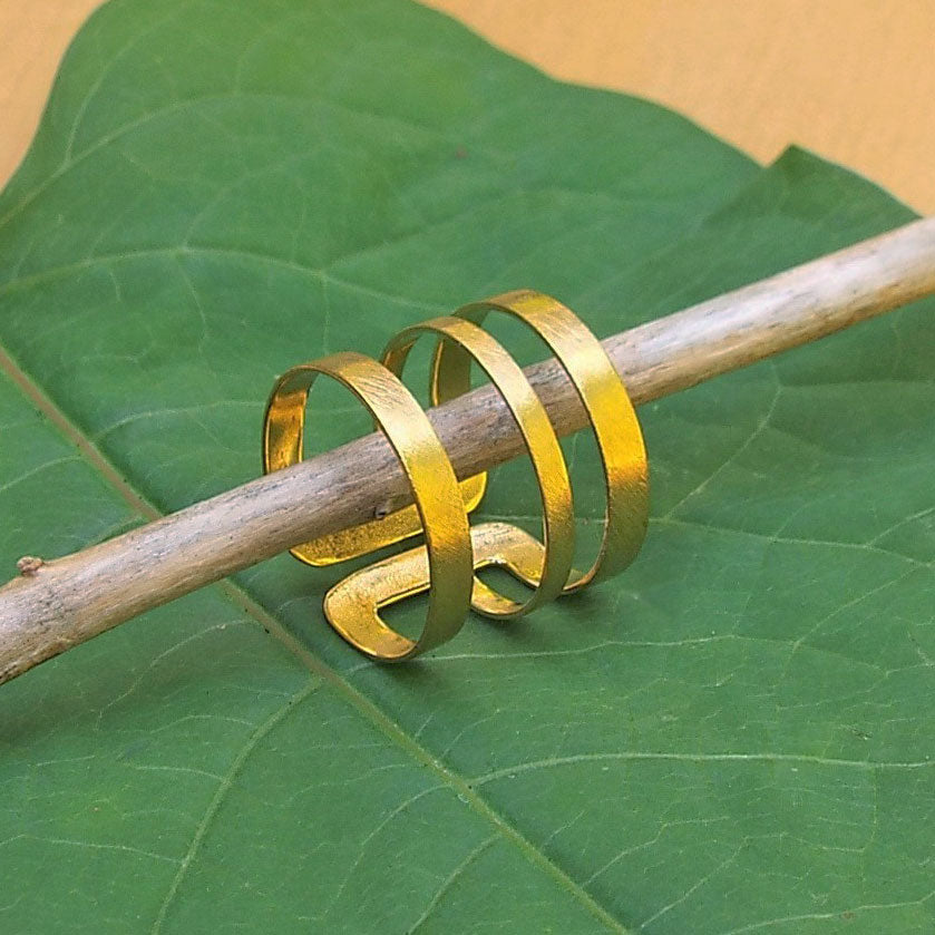 Fair trade brass ring handmade by survivors of human trafficking