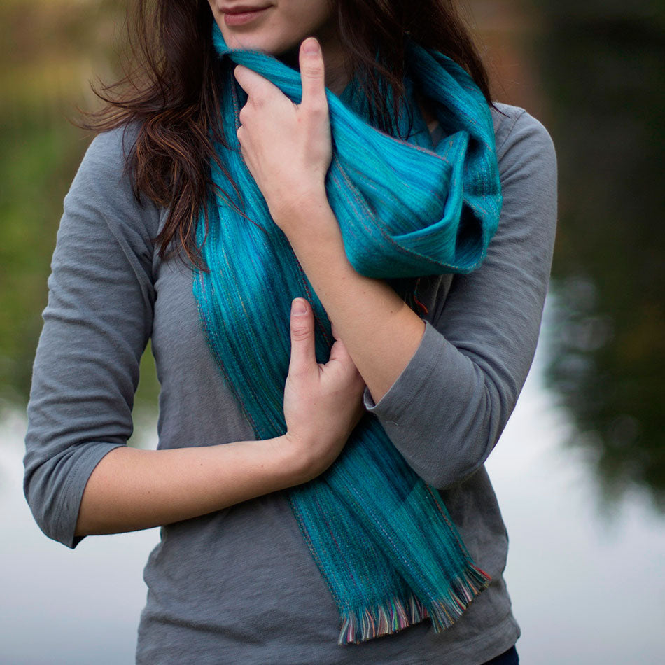 Fair trade alpaca scarf handmade in Ecuador