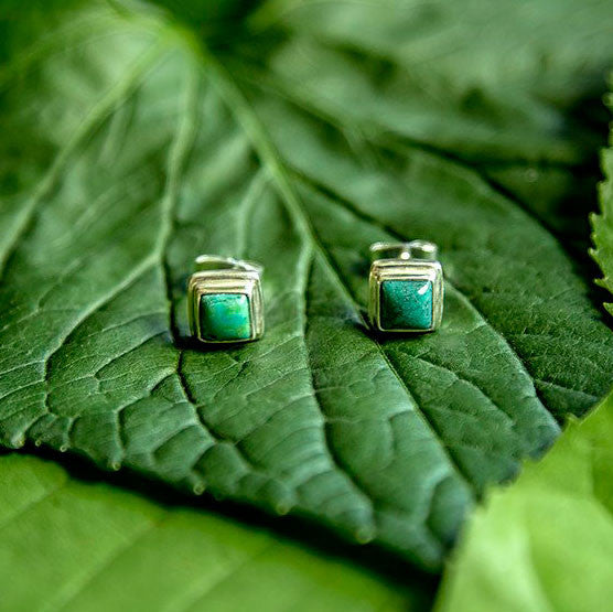 Pure Simplicity Turquoise Studs, Indonesia