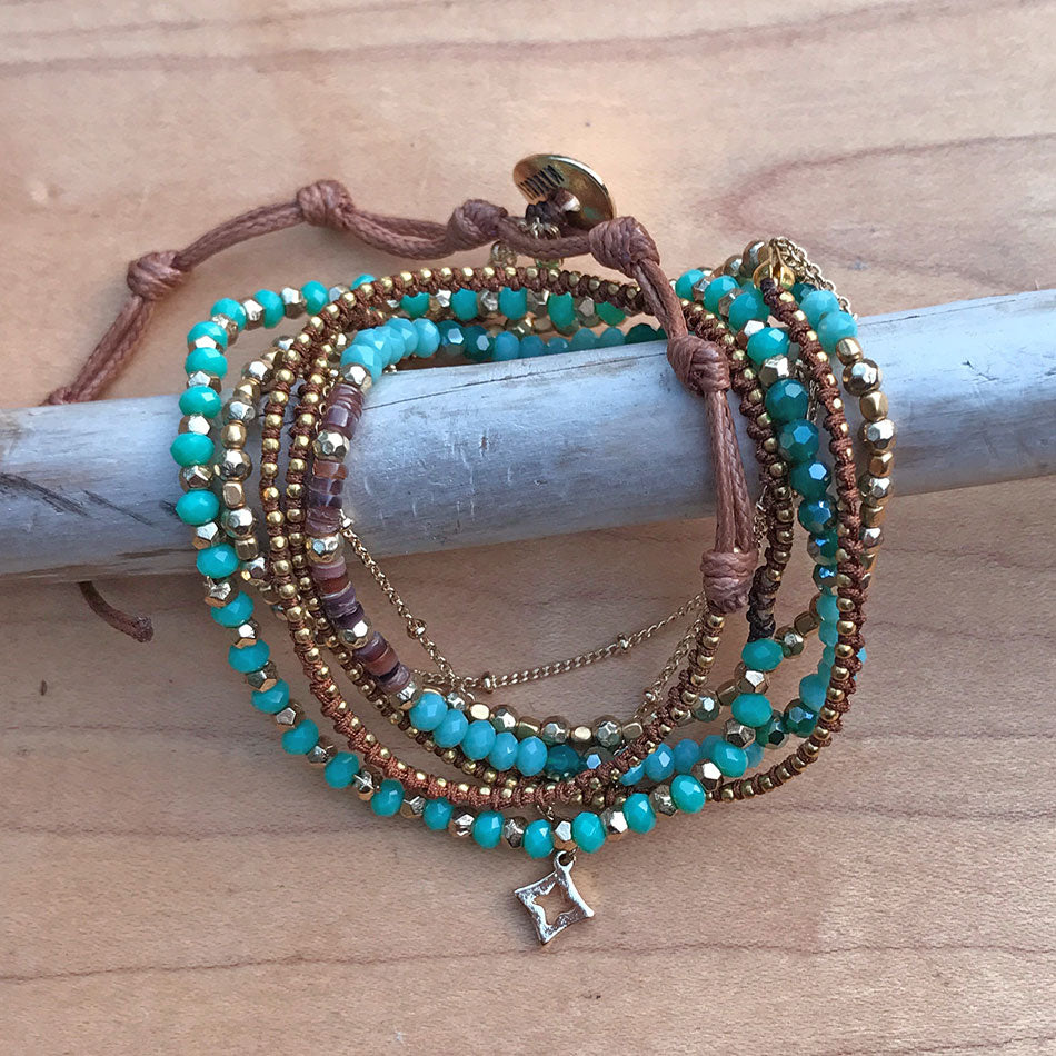 Fair trade, handmade wrap bracelet by women in Thailand