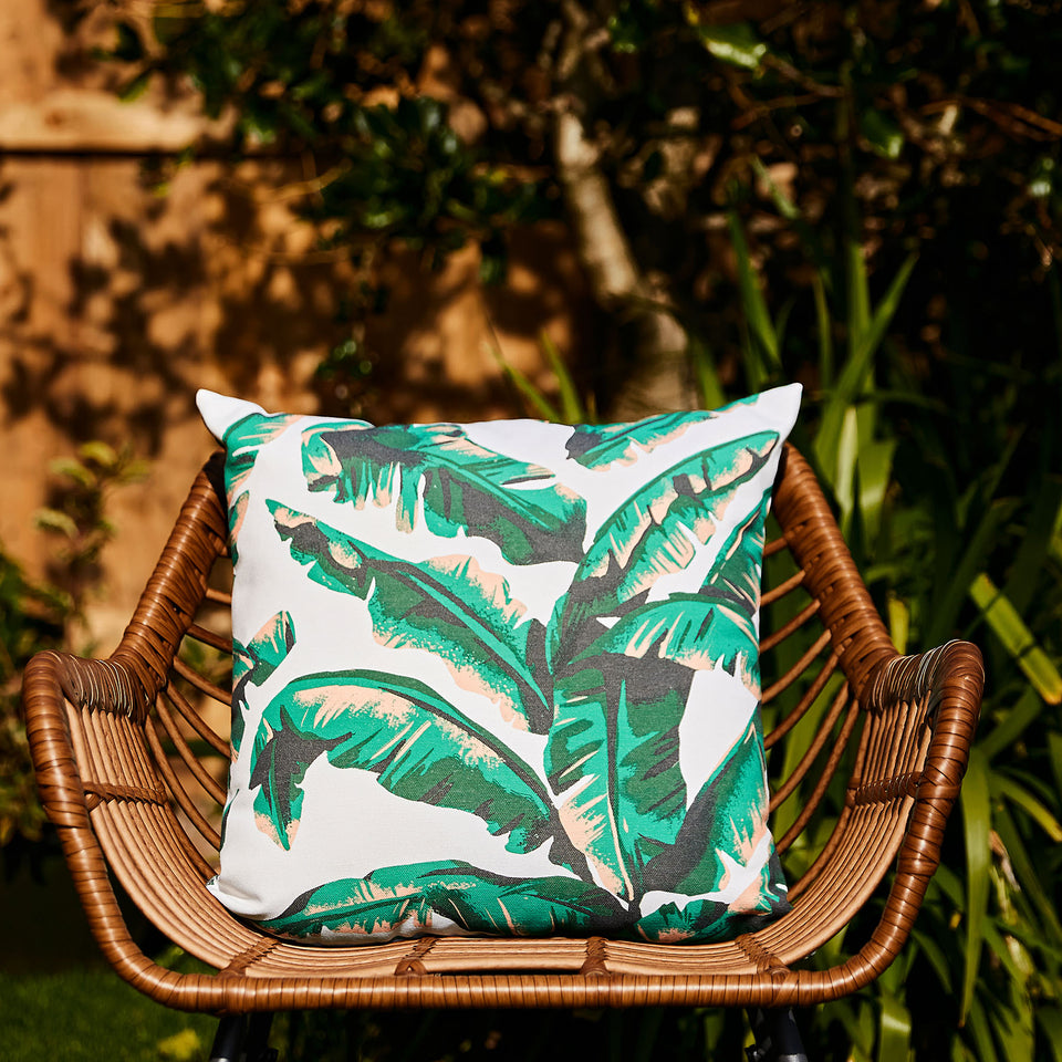 Tropical Palm Cushion | Made From Ocean Plastic