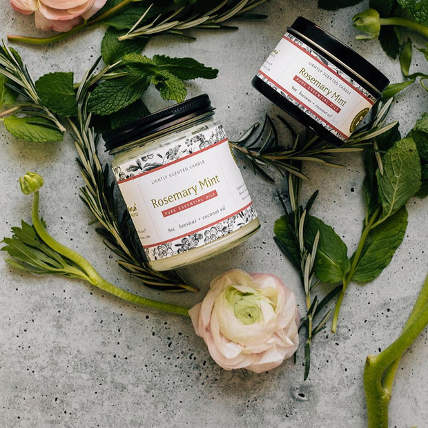 Rosemary Mint Essential Oil Candles 1