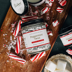 Peppermint Twist Essential Oil Candles
