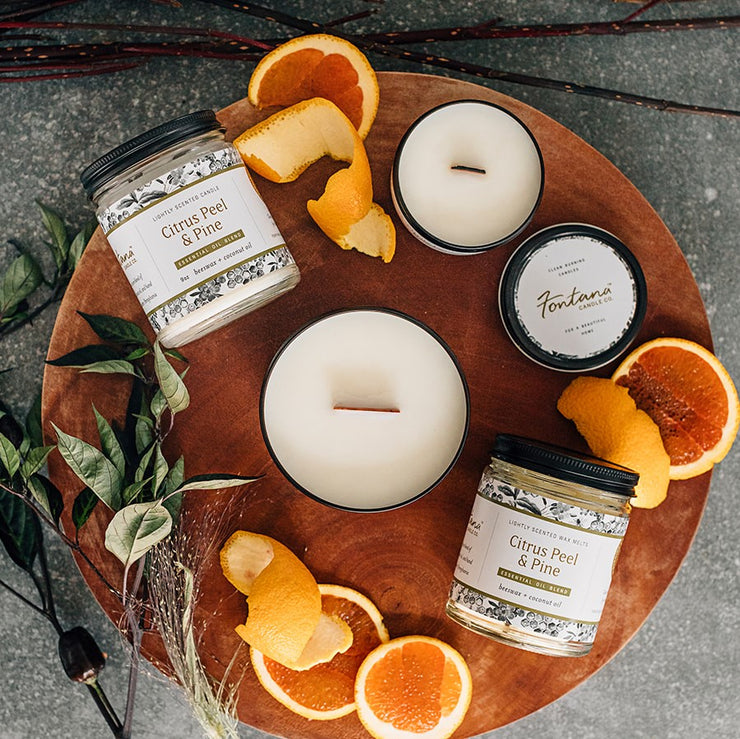 Citrus Peel & Pine Essential Oil Candles