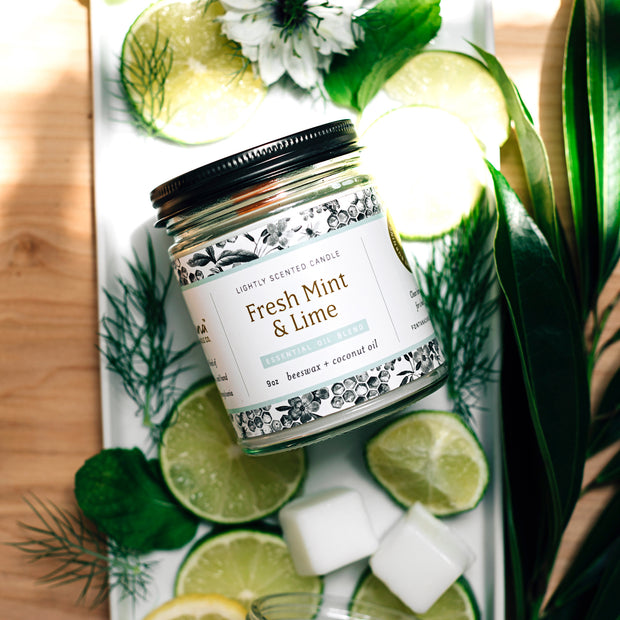 Fresh Mint & Lime Essential Oil Candles 1