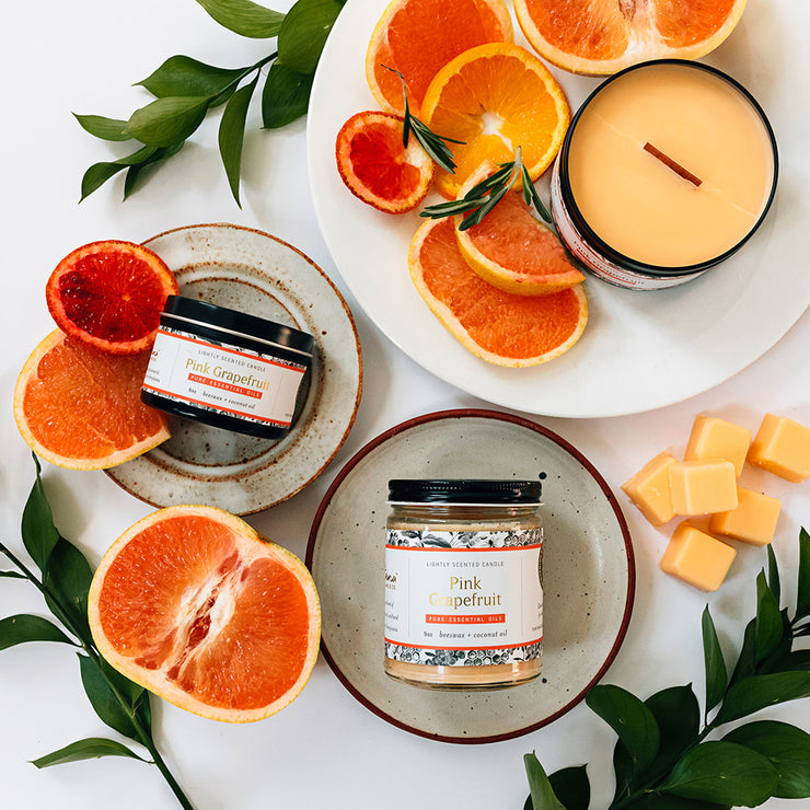 Pink Grapefruit Essential Oil Candles