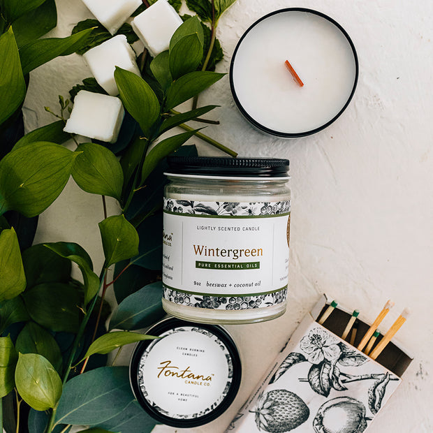 Wintergreen Essential Oil Candles 1