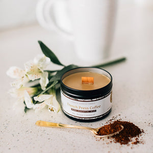 French Press Essential Oil Candles