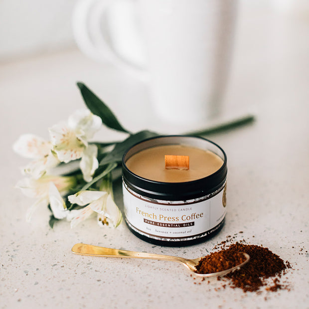 French Press Essential Oil Candles 1
