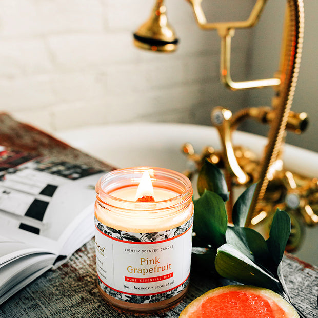 Pink Grapefruit Essential Oil Candles 1