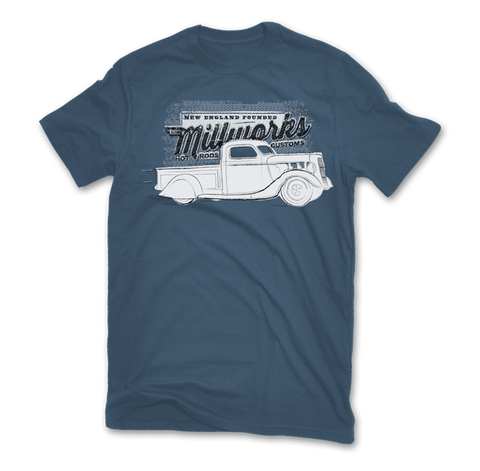 '37 Ford Pickup Short Sleeve T-Shirt - Indigo Blue