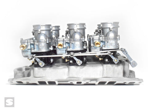 Stromberg 6x2 Direct Linkage. Edelbrock X1