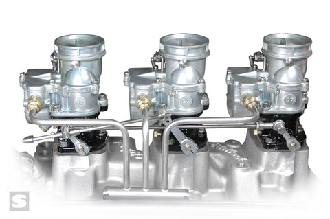 Stromberg BIG97 TRI-POWER - Chevy linkage and fuel line