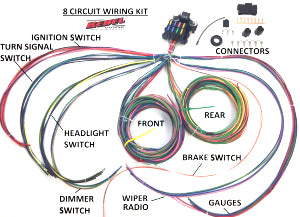 12V 8 Circuit Wiring Harness