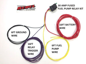 Fuel Pump Relay Kit - 30 AMP - Millworks Hot Rod A Amp Relay Wiring on