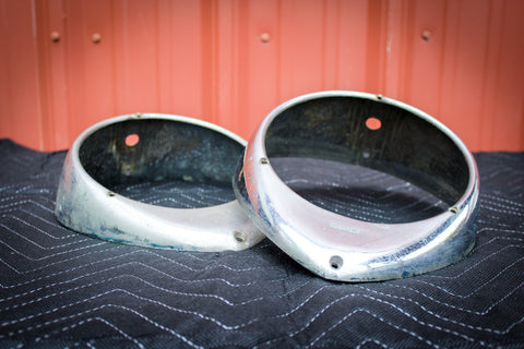 1937-39 Electroline Headlight Bezels (Used)