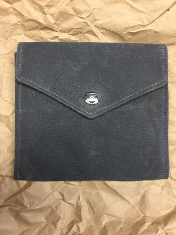 Waxed Canvas Envelope Style Door Pocket - Charcoal