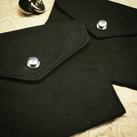 Waxed Canvas Envelope Style Door Pocket - Black