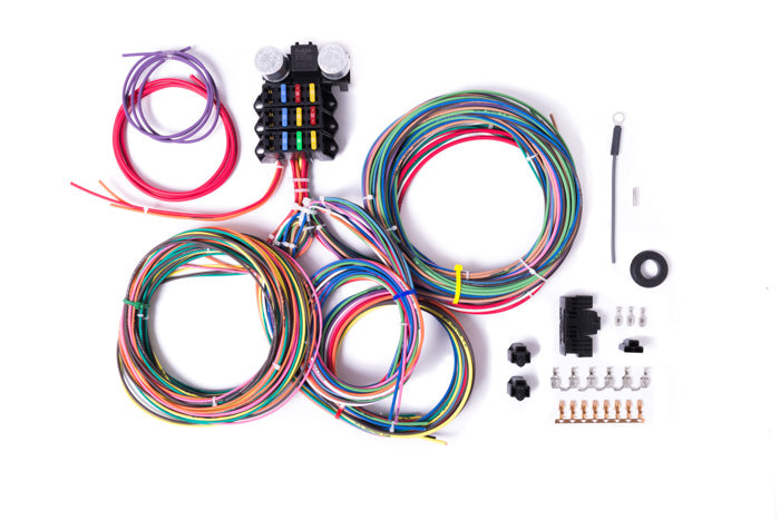 9 3 circuit wiring harness millworks hot rod 12 Volt Boat Wiring