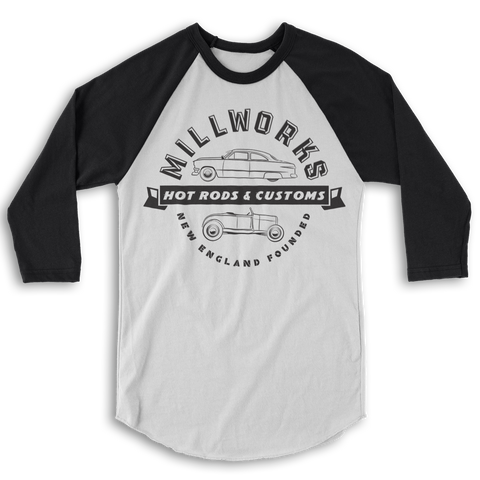 Millworks Rod & Custom Baseball T-shirt - Black