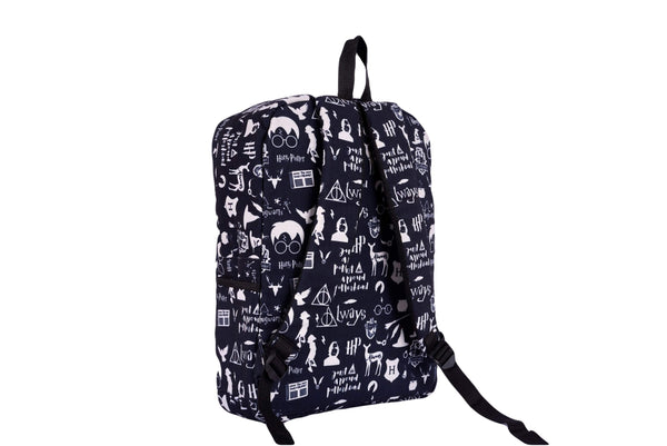 Black Harry Potter Printed Backpack - qaafgallery
