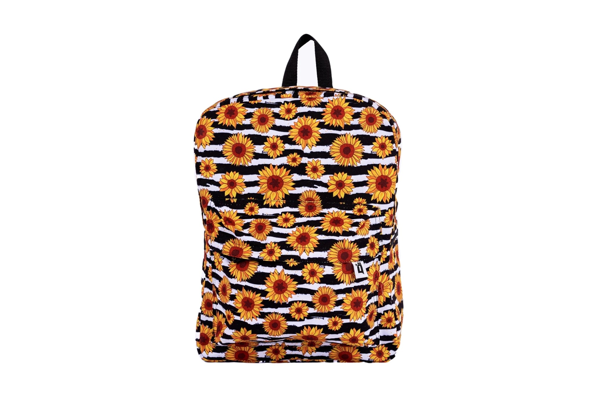 Sun Flower Printed Backpack - qaafgallery