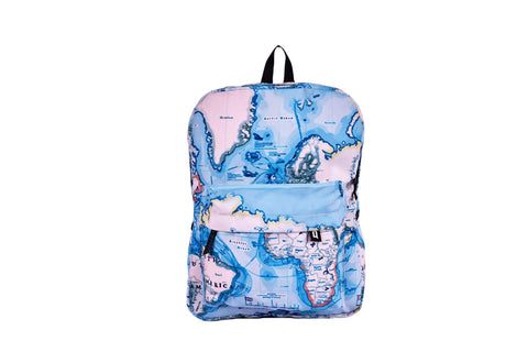 Map Printed Backpack - qaafgallery