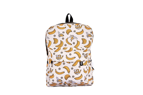 Banana Printed Backpack - qaafgallery