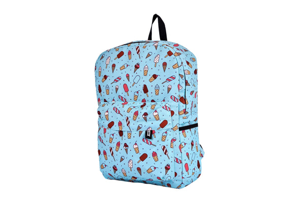 Ice Cream Printed Backpack - qaafgallery