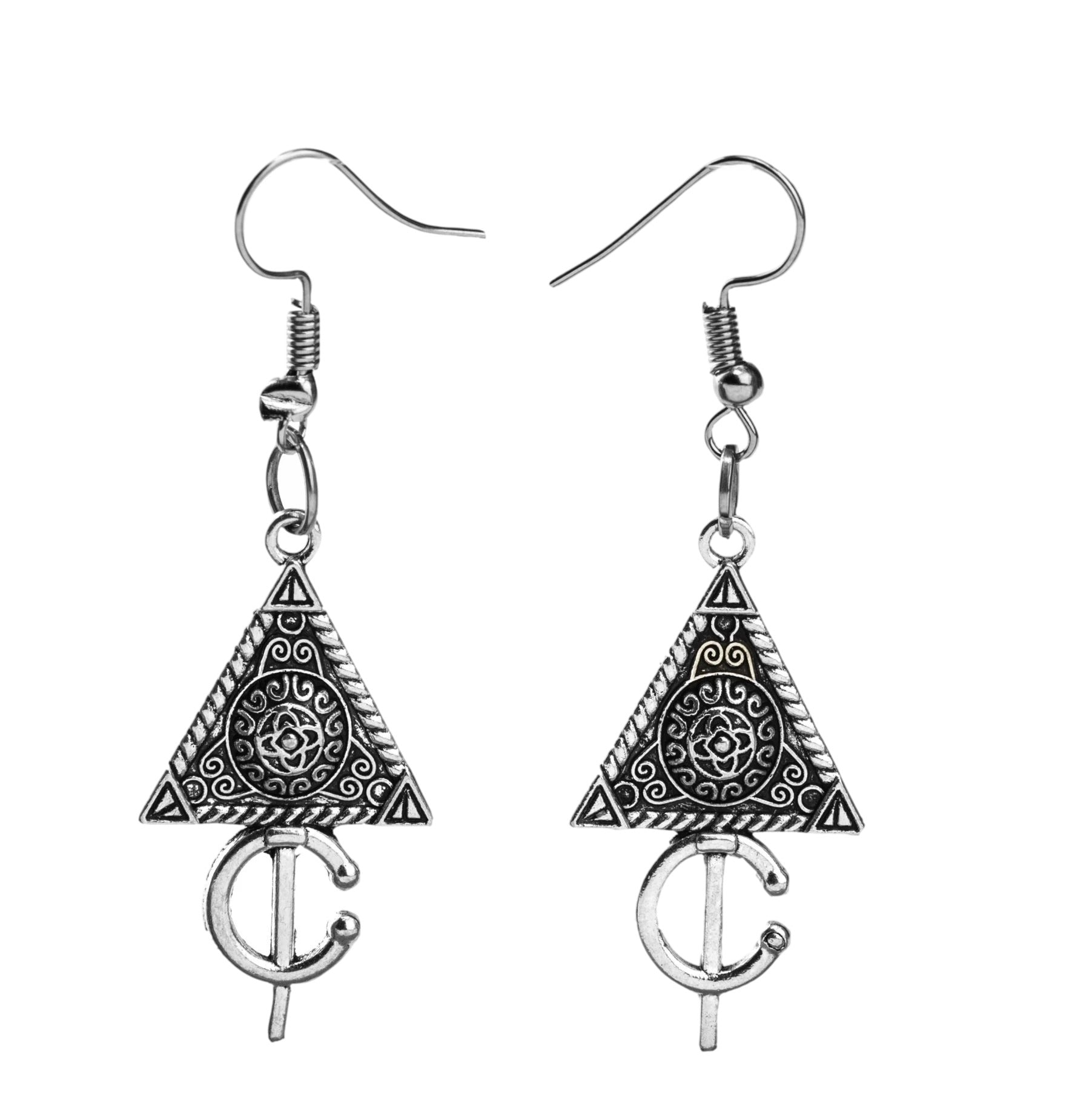 Triangle Earrings - qaafgallery