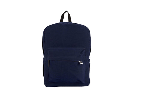 Navy Basic Backpack - qaafgallery