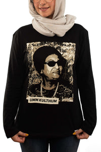 Om Kalthoum Long Sleeves Shirt - qaafgallery